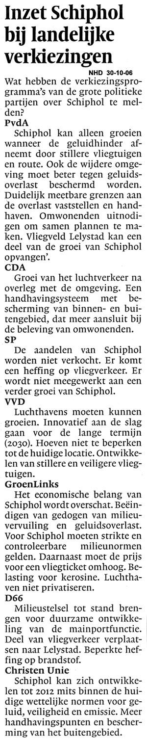 Inzet Schiphol bij landelijke verkiezingen