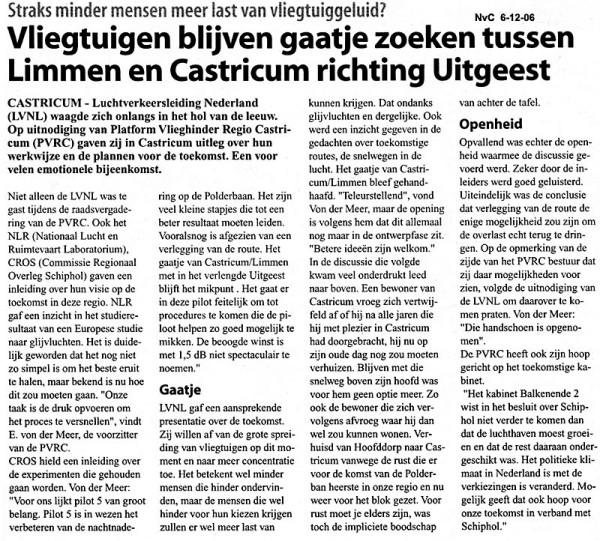Vliegtuigen blijven gaatje zoeken tussen Limmen en Castricum richting Uitgeest