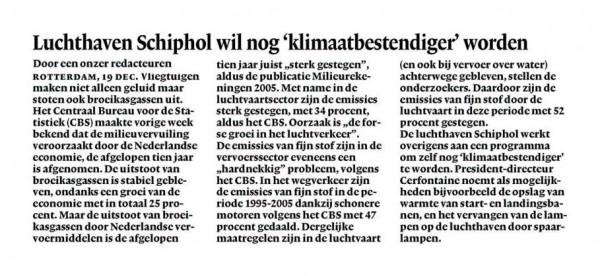 Schiphol wil nog 'klimaatbestendiger' worden