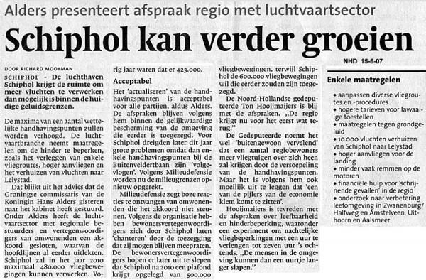 Schiphol kan verder groeien
