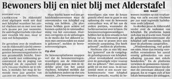 Bewoners blij en niet blij met Alderstafel