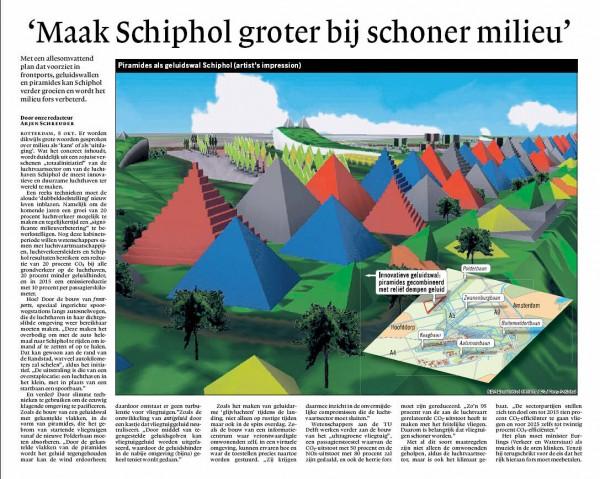 'Maak Schiphol groter bij schoner milieu'