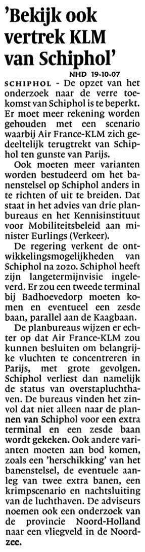 """""""Bekijk ook vertrek KLM van Schiphol"""""""