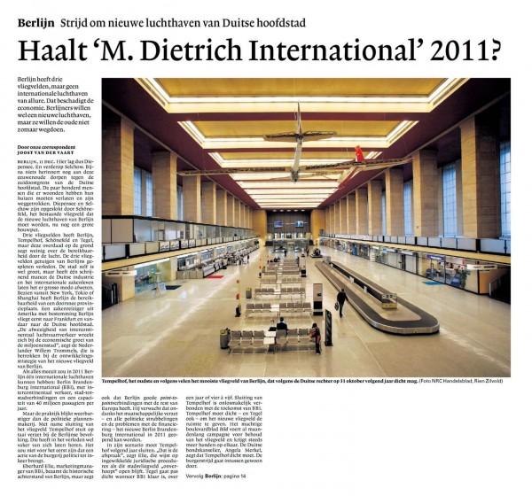 Haalt 'M.Dietrich International' 2011?