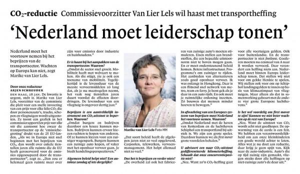 'Nederland moet leiderschap tonen'