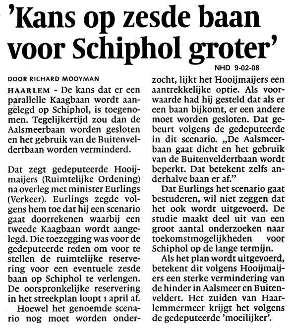 Kans op zesde baan voor Schiphol groter