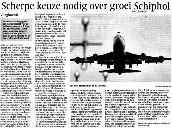 Scherpe keuze nodig over groei Schiphol