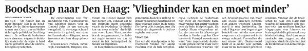 Boodschap naar Den Haag: 'Vlieghinder kan en moet minder'