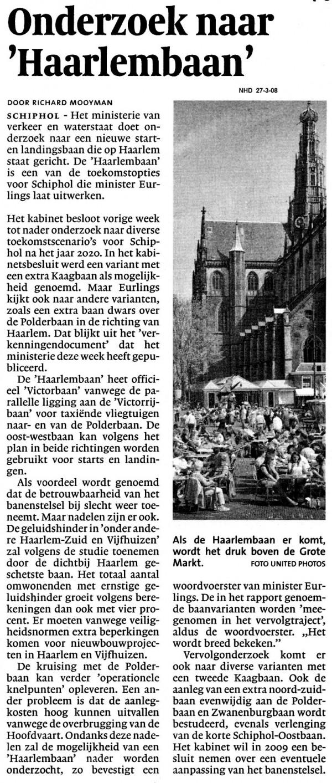 Onderzoek naar Haarlembaan