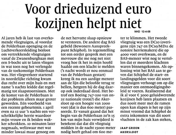 Voor drieduizend euro kozijnen helpt niet