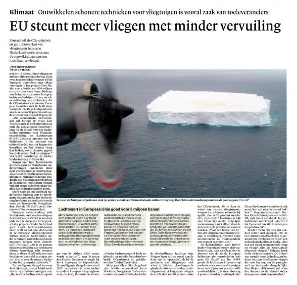 EU steunt meer vliegen met minder vervuiling
