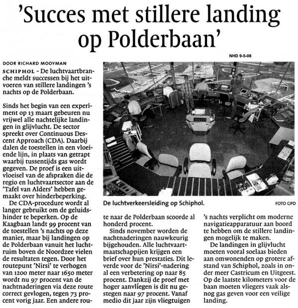 Succes met stillere landing op Polderbaan