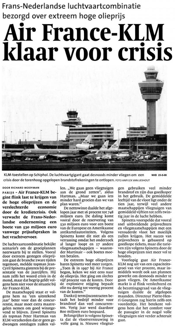 Air France KLM  klaar voor crisis