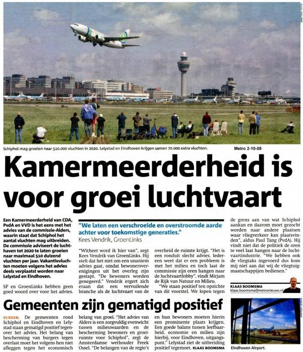 Kamermeerderheid is voor groei luchtvaart