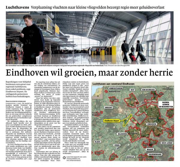 Eindhoven wil groeien, maar zonder herrie