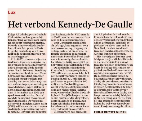 Het verbond Kennedy-De Gaulle