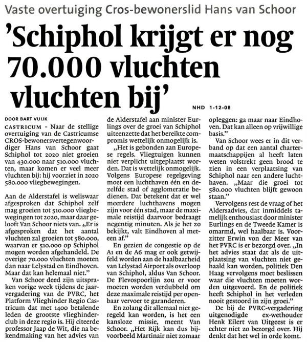'Schiphol krijgt er nog 70.000 vluchten bij'