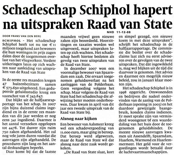 Schadeschap Schiphol hapert na uitspraken Raad van State