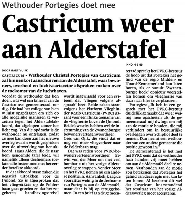 Castricum weer aan de Alderstafel