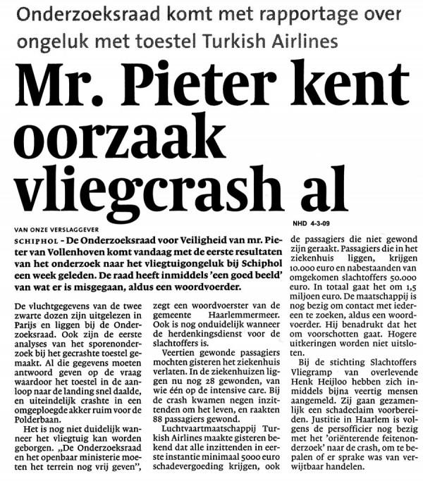 Mr Pieter kent oorzaak vliegcrash al