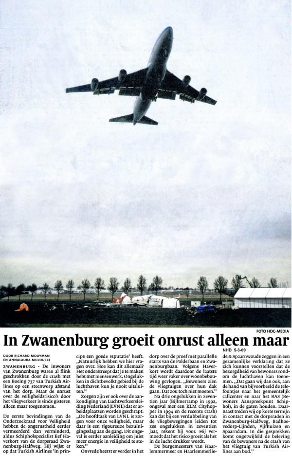 In Zwanenburg groeit onrust alleen maar