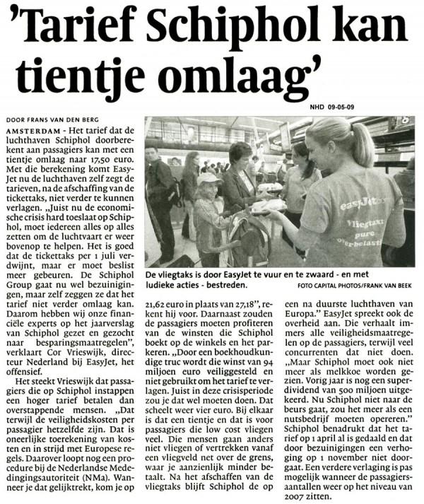 'Tarief Schiphol kan tientje omlaag'