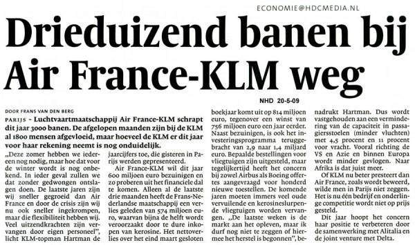 Drieduizend banen bij Air France-KLM weg