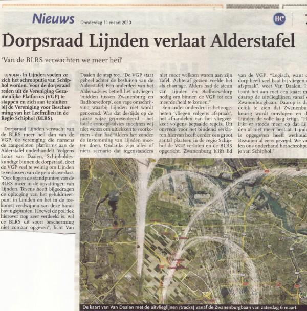 Dorpsraad Lijnden verlaat Alderstafel (met knipsel)