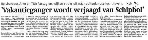 Vakantieganger wordt verjaagd van Schiphol