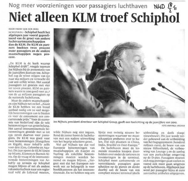 Niet alleen KLM troef Schiphol
