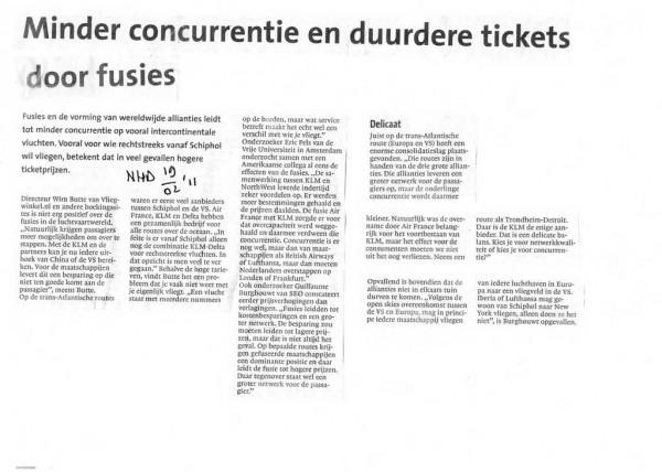 Minder concurentie en duurdere tickets door fusie