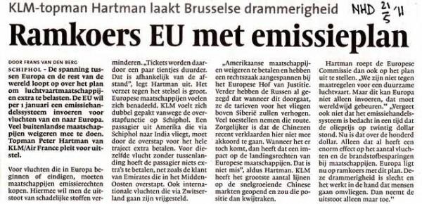 Ramkoers EU met emissieplan
