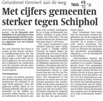 Met cijfers gemeenten sterker tegen Schiphol