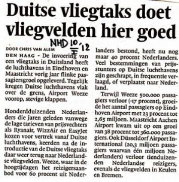 Duitse vliegtax doet vliegvelden hier goed