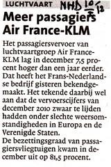 Meer passagiers Air France-KLM