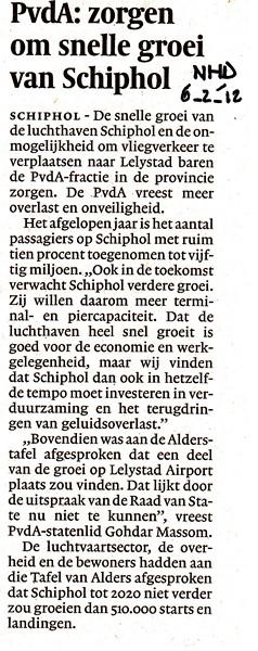 PvdA: zorgen om snelle groei van Schiphol
