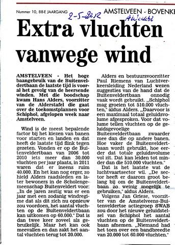 Extra vluchten vanwege wind