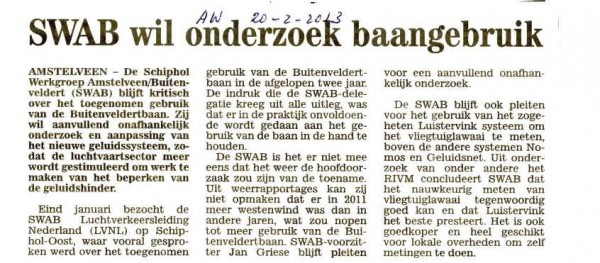 SWAB wil onderzoek baangebruik