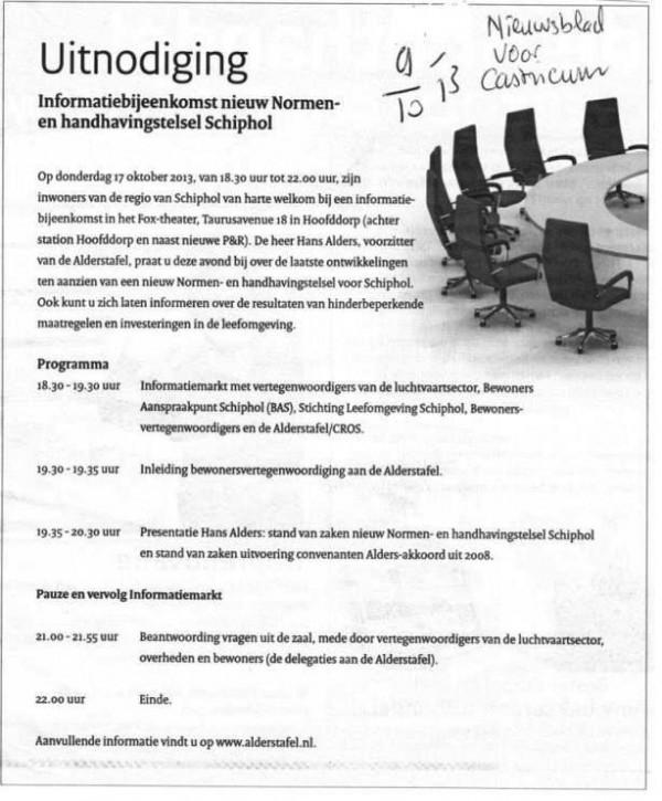 Uitnodiging informatiebijeenkomst nieuw Normen- en handhavingstelsel Schiphol