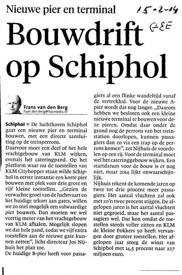 Bouwdrift op Schiphol