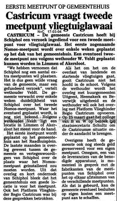 Castricum vraagt tweede meetpunt vliegtuiglawaai