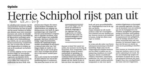 Herrie Schiphol rijst de pan uit