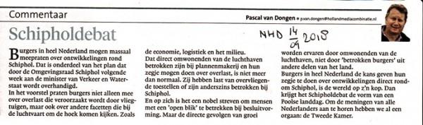 Zwart-Wit: Schipholdebat