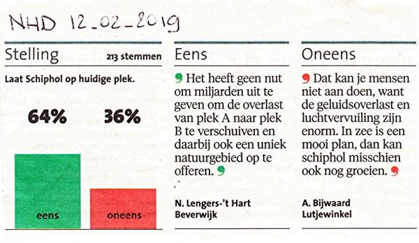 UPDATE - Stelling: Laat Schiphol op huidige plek