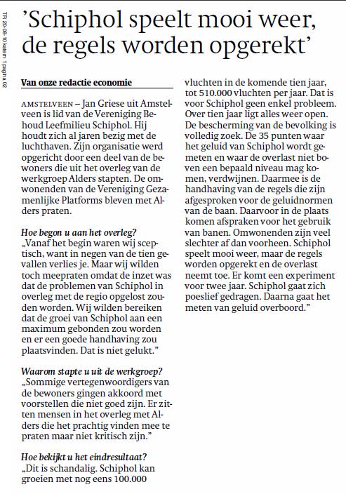 'Schiphol speelt mooi weer, de regels worden weer opgerekt'