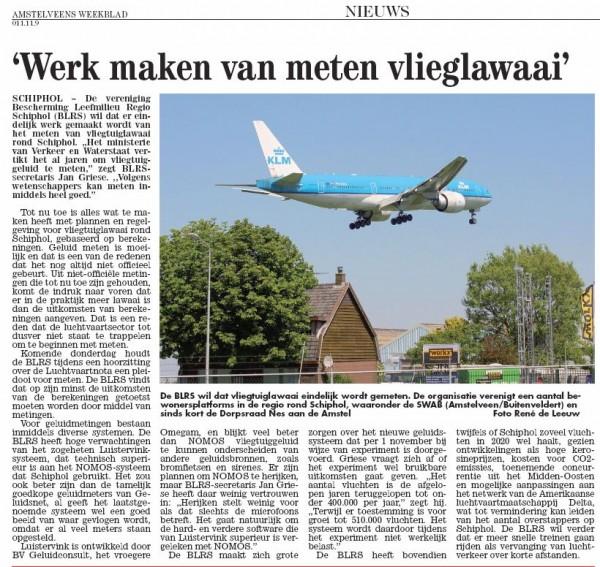 'Werk maken van meten vlieglawaai'