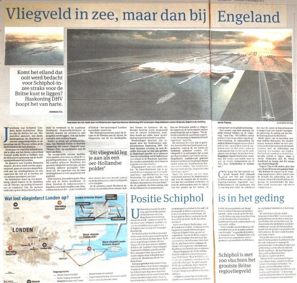 Vliegveld in zee, maar dan in Engeland