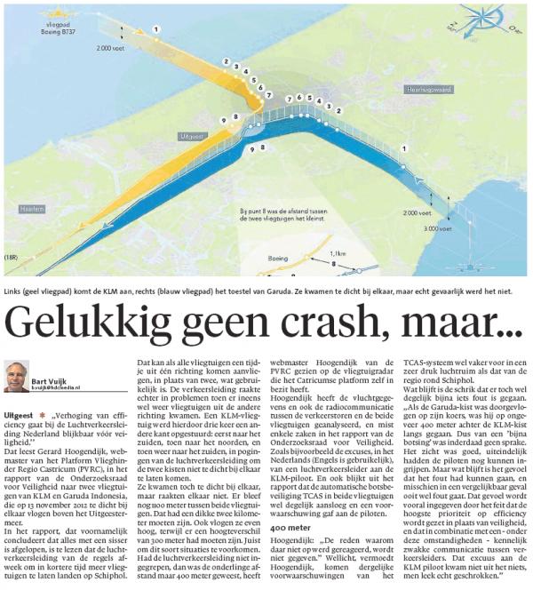 Gelukkig geen crash, maar…