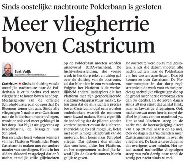 Meer vliegherrie boven Castricum