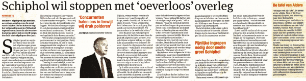 Schiphol wil stoppen met 'oeverloos' overleg